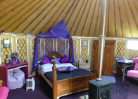6.23m 3 - 4 People Insulated Mongolian Yurt Tent For Camping / Lodging / Catering