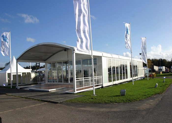 500 People Clear Tents For Weddings With Transparent PVC Roof Steel Frame Structure